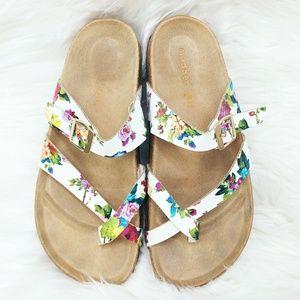 Madden Girl Floral Strappy Brando Slip On Sandals